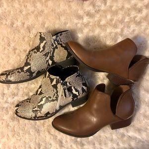 Arizona Jean Co. Ankle Size 8.5 Boot Bundle